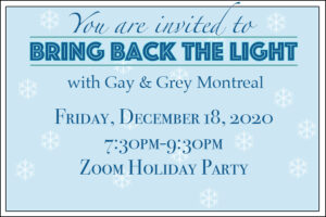 Bring Back The Light Holiday Party Invitation