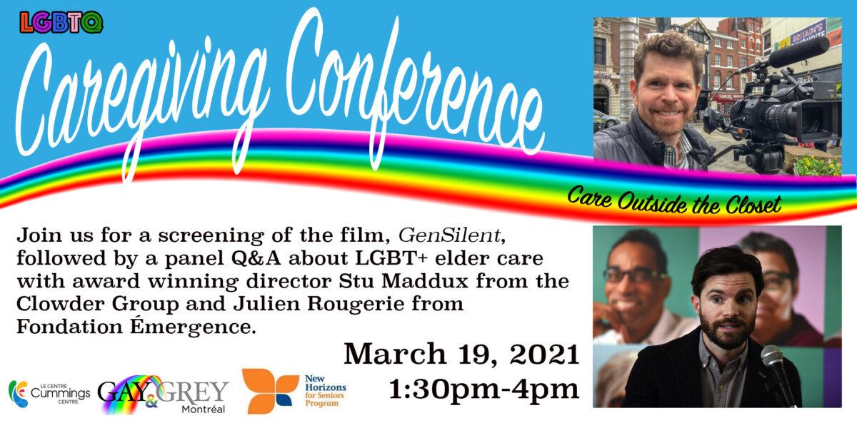 LGBTQ Caregiving Conference : Care Outside the Closet March 19th 1:30pm - 4pm